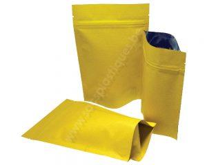 Pochettes en papier rayé jaune