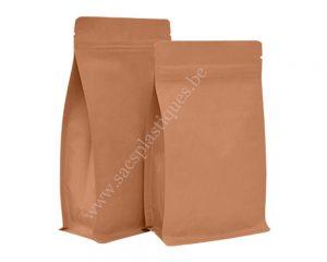 Papier Kraft Sacs avec fermeture éclair