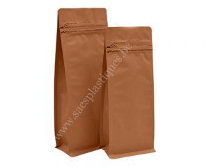 Papier Kraft avec slot d'ouverture zip