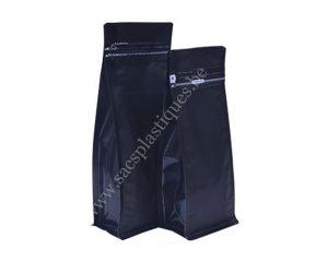 Noir Mat avec slot d'ouverture zip