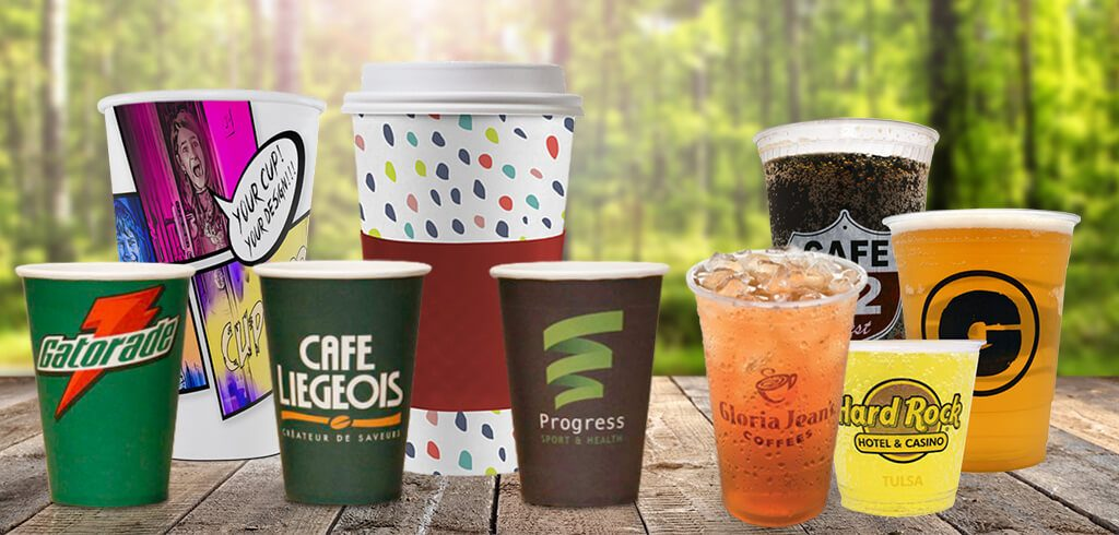 Printed Paper Plastic Cups