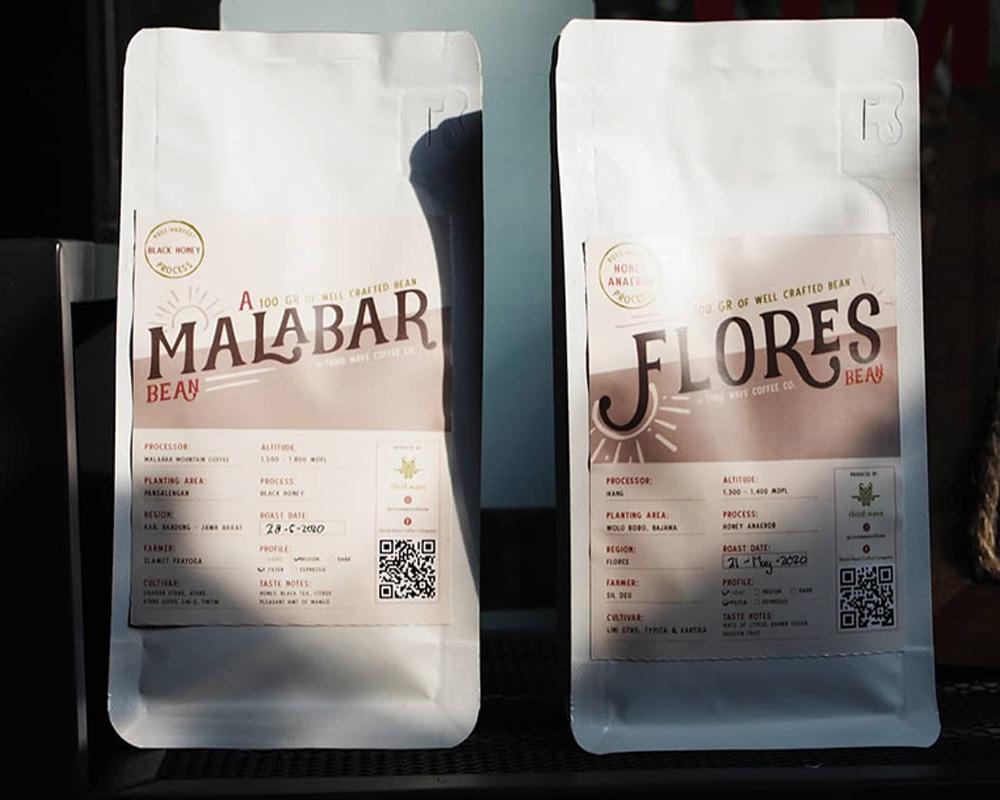 Packaging of coffee beans